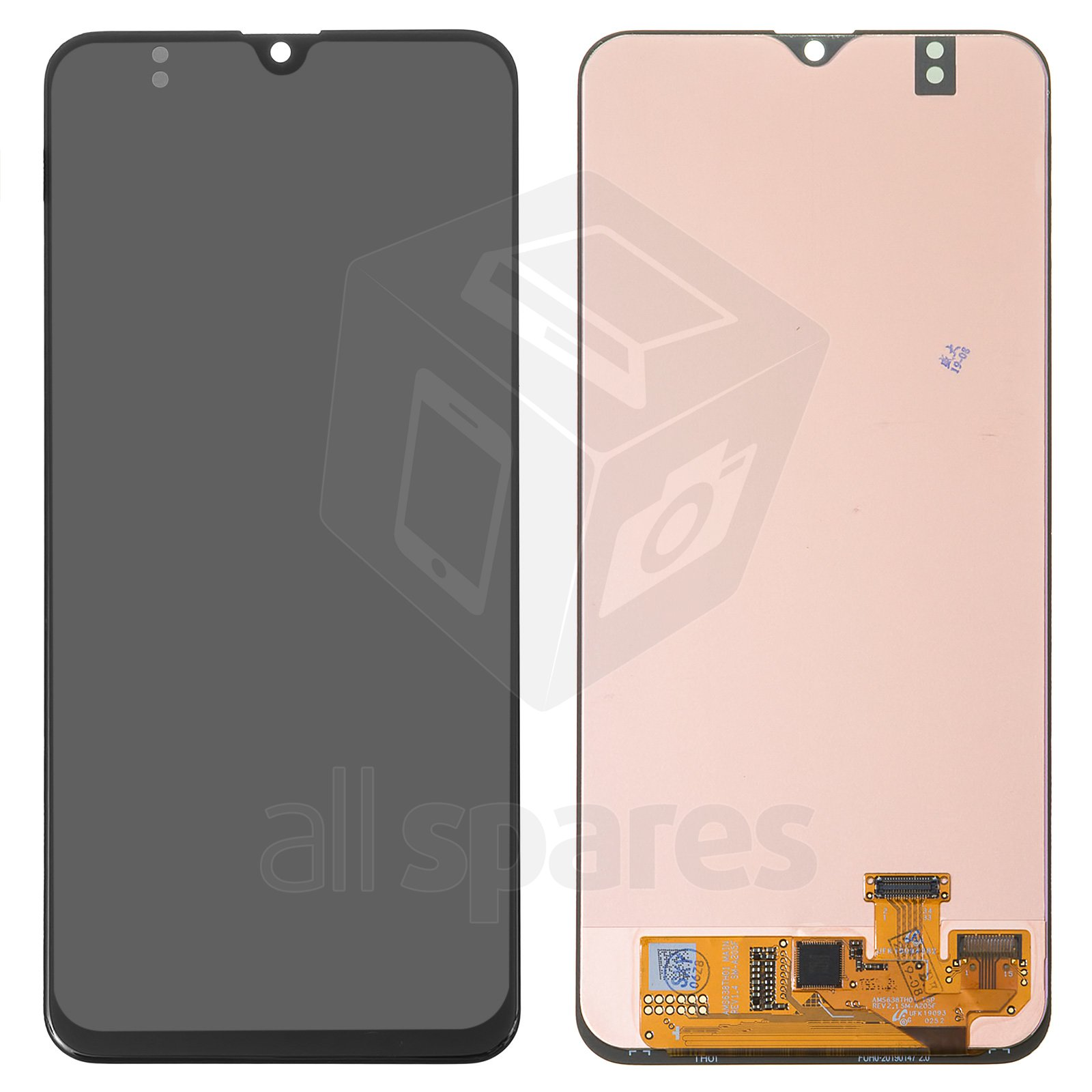 lcd compatible with samsung a205 galaxy a20 black with touchscreen original prc original glass