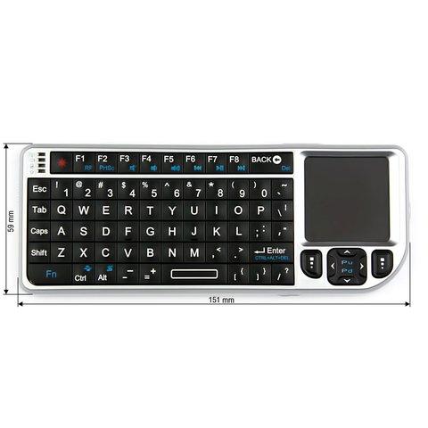 Беспроводная мини клавиатура с тачпадом серебристая