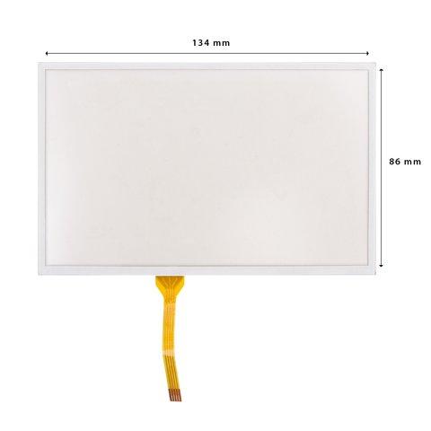 """5.8"""" Универсальное гибкое сенсорное стекло с клейкой лентой"""