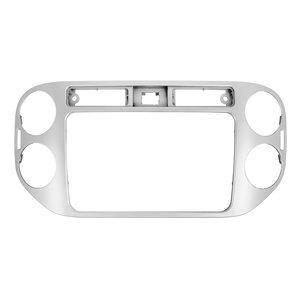 Переходная рамка для Volkswagen Tiguan 2013 14 г.в. для RCD510, RNS510, RCD310, RNS310, RNS315 серебристая