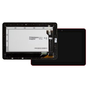 LCD compatible with Asus MeMO Pad 10 ME102A, (red, with touchscreen, with frame) #B101EAN01.1/MCF-101-1856-01-FPC-V1.0
