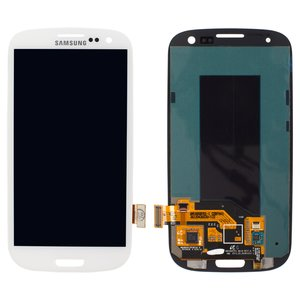 LCD for Samsung I747 Galaxy S3, I9300 Galaxy S3, I9300i Galaxy S3 Duos, I9301 Galaxy S3 Neo, I9305 Galaxy S3, R530 Cell Phones, (white, with touchscreen, original (change glass) )