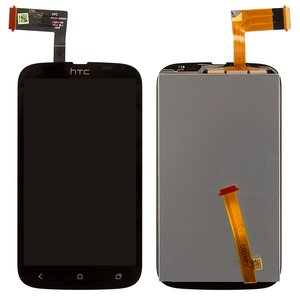 LCD for HTC T328w Desire V Cell Phone, (black, with touchscreen)