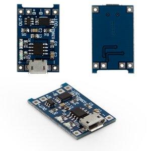 Li-ion Battery Charge Controller MP1405 (03962A), (output 1 A, (Micro-USB input 5V))