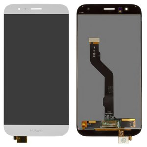 LCD compatible with Huawei G8, (white, with touchscreen, reglued flat cable, original (change glass) , RIO-L01)