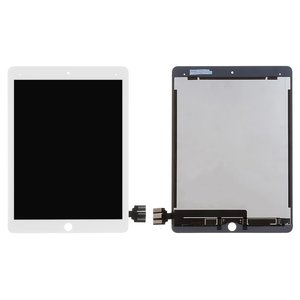 LCD for Apple iPad Pro 9.7 Tablet, (white, with touchscreen, Original (PRC), A1673/A1674/A1675)