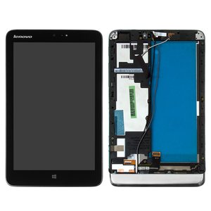 LCD for Lenovo IdeaTab MIIX 2 8 Tablet, (black, with touchscreen, with frame)