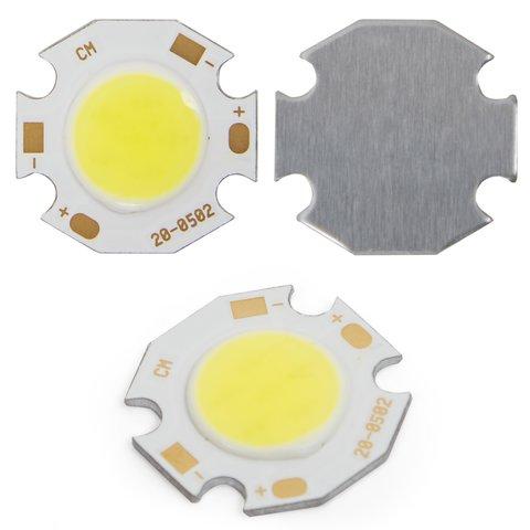 COB LED модуль 5 Вт холодний білий, 450 лм, 20 мм, 300 мА, 15 17 В
