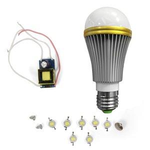 Комплект для збирання світлодіодної лампи SQ-Q52 7 Вт (холодний білий, E27)